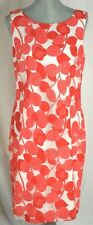 New TALBOTS $179 Coral/White Floral Lace Sheath Lined Dress - Sz 10