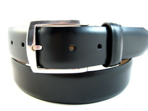 "NEW Allen Edmonds ""MIDLAND AVE"" Leather Belt  #19011 Size 38 USA Black(528)"
