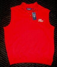 NEW Ralph Lauren POLO GOLF GREENBRIER CLASSIC Zip VEST Red PIMA Cotton XL   #151