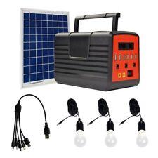 Portable Solar Generator Solar Panel Solar Power Inverter Electric Light USB