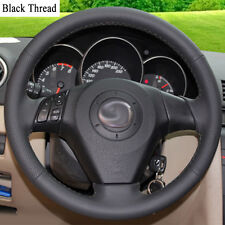 Breathable DIY Sewing-on PU Leather Steering Wheel Cover Exact Fit For Mazda 3