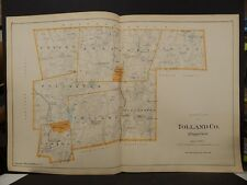 Conneticut, Tolland County Map, 1893, 2 double pages L5#49