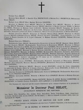 PAUL HELOT Houdeville FAIRE PART Gallois PANTHOU Tinel Castaing Bantegny 1896