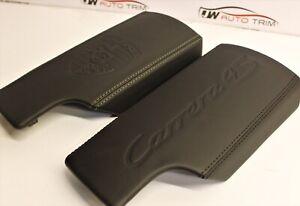 Porsche 997 - Retrimming service - front armrest lid - leather embossed