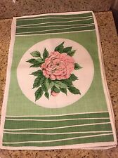"""Set of (4) Linen Green White And Pink Floral Placemats  16 3/4"""" L X 11 1/4"""" W"""