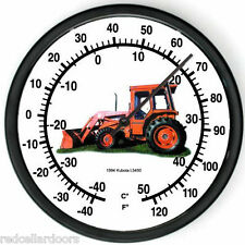 "New KUBOTA Model L5450 Tractor Wall Thermometer 1994 10"" Round Indoor Farmer Gif"