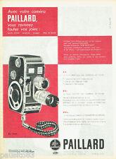 PUBLICITE ADVERTISING 115  1958  la caméra B8  Bolex Paillard