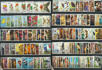 Super Special Mini Lot of 133 Diff Topical Stamps Birds Seashells Flowers Mushro