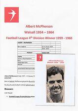 Albert Mcpherson Walsall 1954-1964 Raro Orig Firmado periódico Imagen De Corte