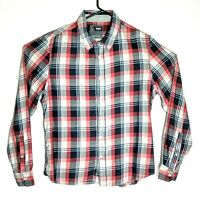 Mossimo Long sleeve Red/Blue/Black Check shirt Size L Approx Chest: 104 cm