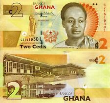 GHANA 2 Cedis Banknote World Paper Money UNC Currency Pick p37Ae 2017 Bill Note