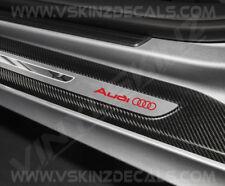 4x AUDI logotipo Adhesivos Calcomanías de primera calidad fundido puerta umbral TT RS Quattro A3 A4 S-LINE