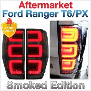 Smoked LED Tail Rear Lamp Light For Ford Ranger PX T6 MK2 XL XLT XLS Wildtrak AT
