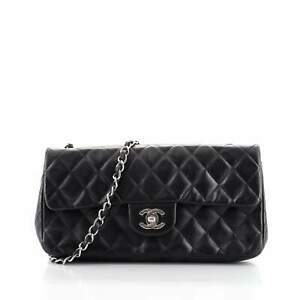 Chanel CC Chain Flap Quilted Lambskin East West