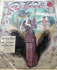 VTG 1910s PARIS FASHION & SEWING PATTERN MAGAZINE LA MODE 1910 ART NOUVEAU