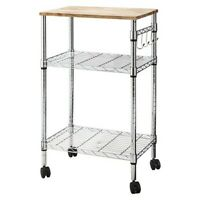 Microwave Cart - Room Essentials - Chrome (Perfect Extra Storage and Prep space)