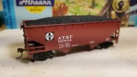 Athearn HO Santa Fe 34' open hopper car metal wheels rtr with coal load nos