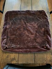 Antique Vintage Burgundy Red Mohair Fabric Lot Teddy Bear Material Pillow Cover