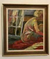 """Signed Contemporary Oil Painting RA 1990 Ex. 16"""" x 18"""" On Board"""