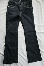 Dojo Jeans 7 FOR All MANKIND Womens Size 28 Dark Wash Flare Sevens Beaded