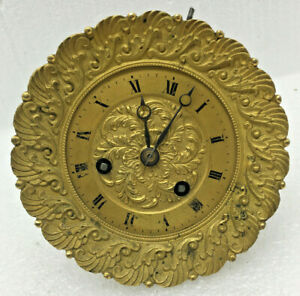 Antique French Portico Mantel Clock  Movement