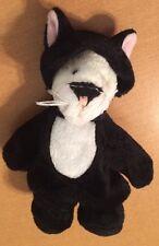 "Ganz Tiny Bear In Black Cat Costume Named Frisky 5 1/2"""