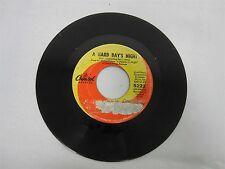 VINTAGE BEATLES 45 RECORD 5222 HARD DAYS NIGHT with EAST COAST SWIRL LABEL