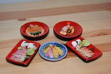 Dollhouse Miniature Japanese Food 5  Sushi Noodle Eel Squid  Shrimp Tempura #4