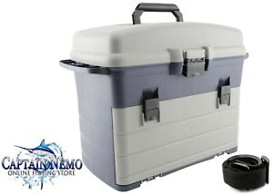 FISHING TACKLE BOX 3 DRAW TRAY REMOVABLE UTILITY TRAYS LURES STORAGE BOAT HS320