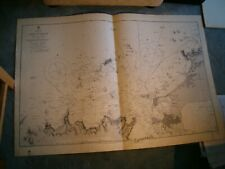 Vintage Admiralty Chart 2700 NORTHERN FRANCE - PORT ST. MALO 1887 edn