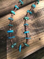 Navajo Indian turquoise and heshi necklace..