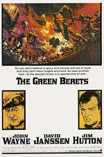 JOHN WAYNE THE GREEN BERETS movie poster WAR FILM collector's item 24X36