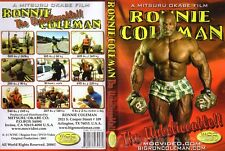 RONNIE COLEMAN UNBELIEVABLE Bodybuilding DVD 2000 Mr Olympia Prep 800lb deadlift