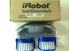 iRobot Black Roomba 500 600 Series AeroVac Bin with Aerovac extra 2  Filters