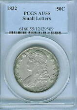 1832 Small Letters Capped Bust Half Dollar : PCGS AU55