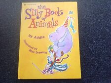 THE SILLY BOOK OF ANIMALS Vintage A Golden Book 1973 large Hardcover RARE