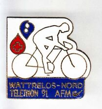 RARE PINS PIN'S .. TV RADIO PRESSE A2 FR3 TELETHON VELO CYCLING 59  ~AK