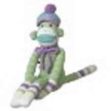 "milo 13""  monkeez green zig zag   sock monkey new discount gift knit"