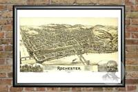Old Map of Rochester, PA from 1900 - Vintage Pennsylvania Art, Historic Decor