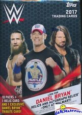 2017 Topps WWE Wrestling EXCLUSIVE HUGE Factory Sealed 10 Pack Blaster Box-RELIC