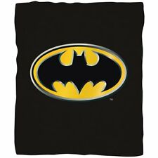 Batman Bat Man Emblem fleece blanket  throw NEW