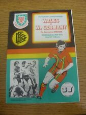 02/05/1979 Wales v Germany [At Wrexham] (Folded). Any faults are noted in bracke