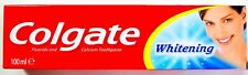 COLGATE WHITENING TOOTHPASTE 100ML FLOURIDE AND CALCIUM REMOVES STAINS PROTECTS