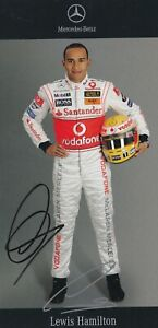 Lewis Hamilton 7X F1 WORLD CHAMPION signed McLaren Mercedes rookie card