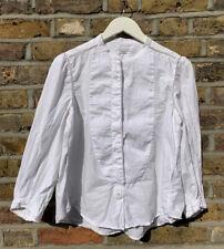 Isabel Marant Etoile White Cotton Banded Collar Blouse Shirt size 42 UK 12