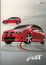 Volkswagen Golf Mk6 Hatchback ABT Tuning 2009 Foldout Sales Brochure In English