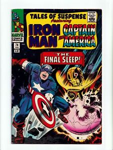 Tales of Suspense #74 Iron Man and Captain America Marvel Comics 1966 FN/VF