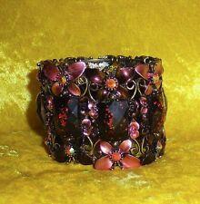 Armband pinke SCHMETTERLINGE mit Kristallsteine - GLITZERT SEHR SCHÖN - ANSEHEN