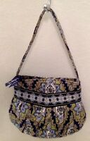 VERA BRADLEY Hannah Cambridge Print Small Purse Bag Navy Green Floral RETIRED