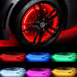Dream Chasing 17inch LED Wheel Ring Tire Rim Light APP Control For Dodge Charger
